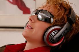 Gesicht-Brille,Kopfhörer